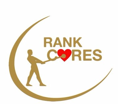 Rank Cares logo with heart symbol